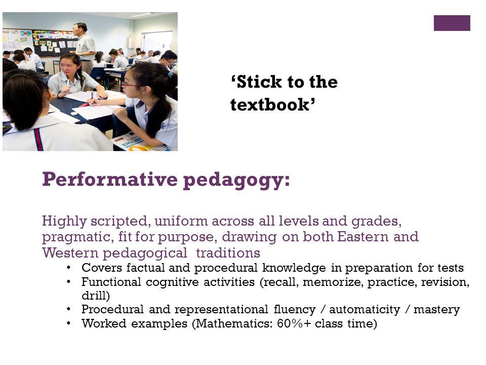 Performative pedagogy: