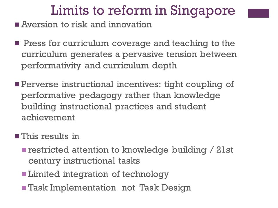 Limits to reform in Singapore