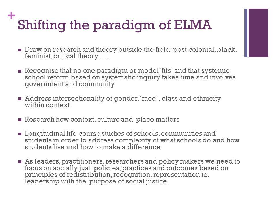 Shifting the paradigm of ELMA