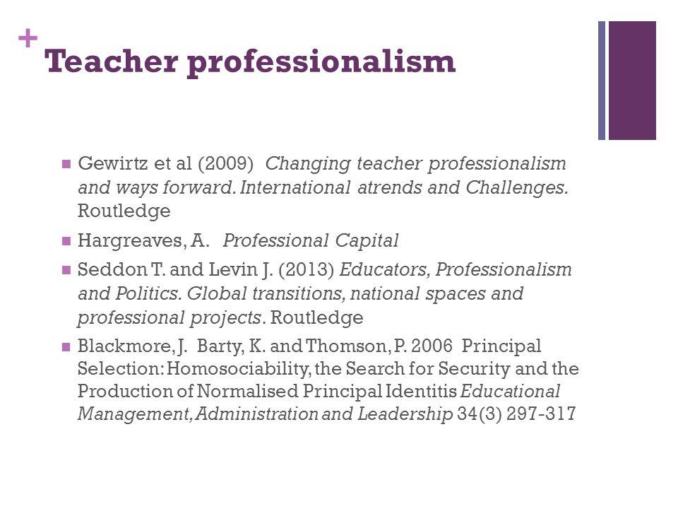 Teacher professionalism