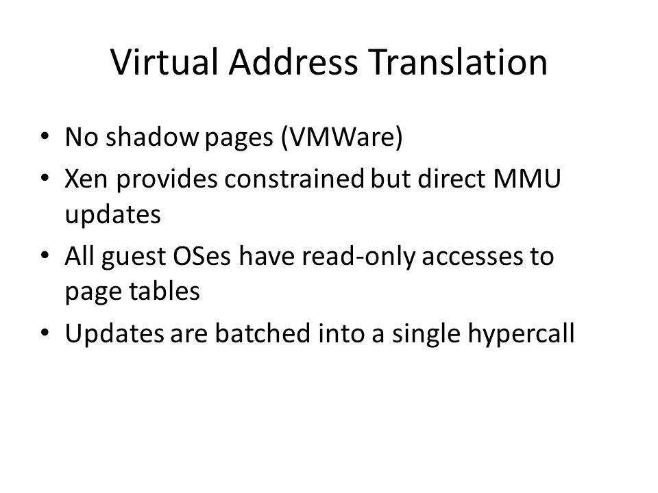Virtual Address Translation