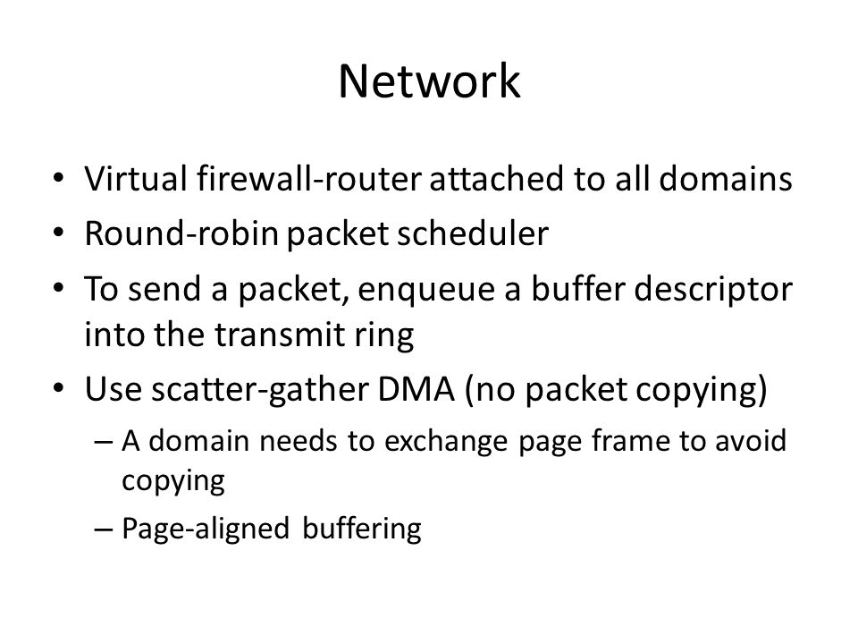 Network Virtual firewall-router attached to all domains