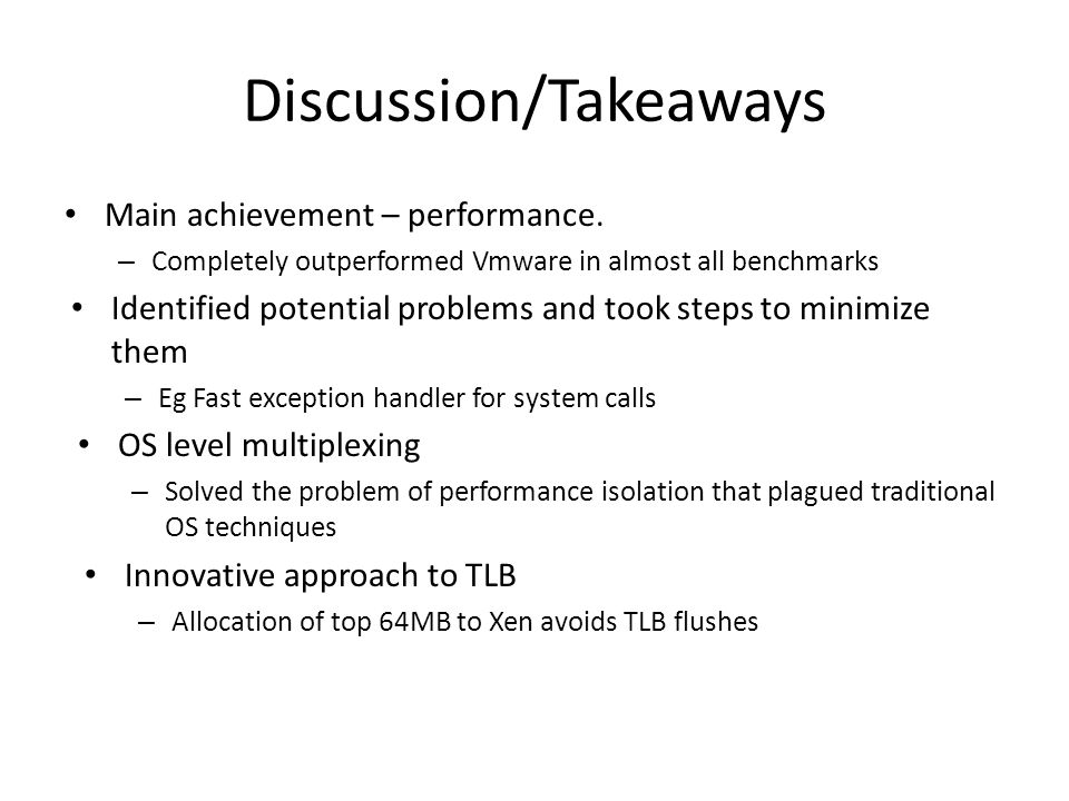 Discussion/Takeaways