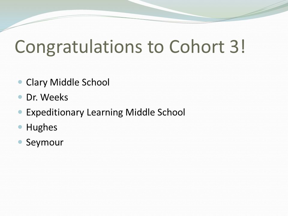 Congratulations to Cohort 3!