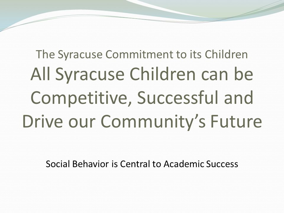 Social Behavior is Central to Academic Success