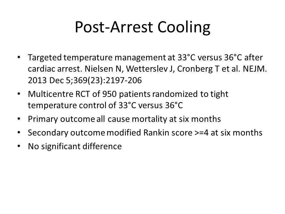 Post-Arrest Cooling