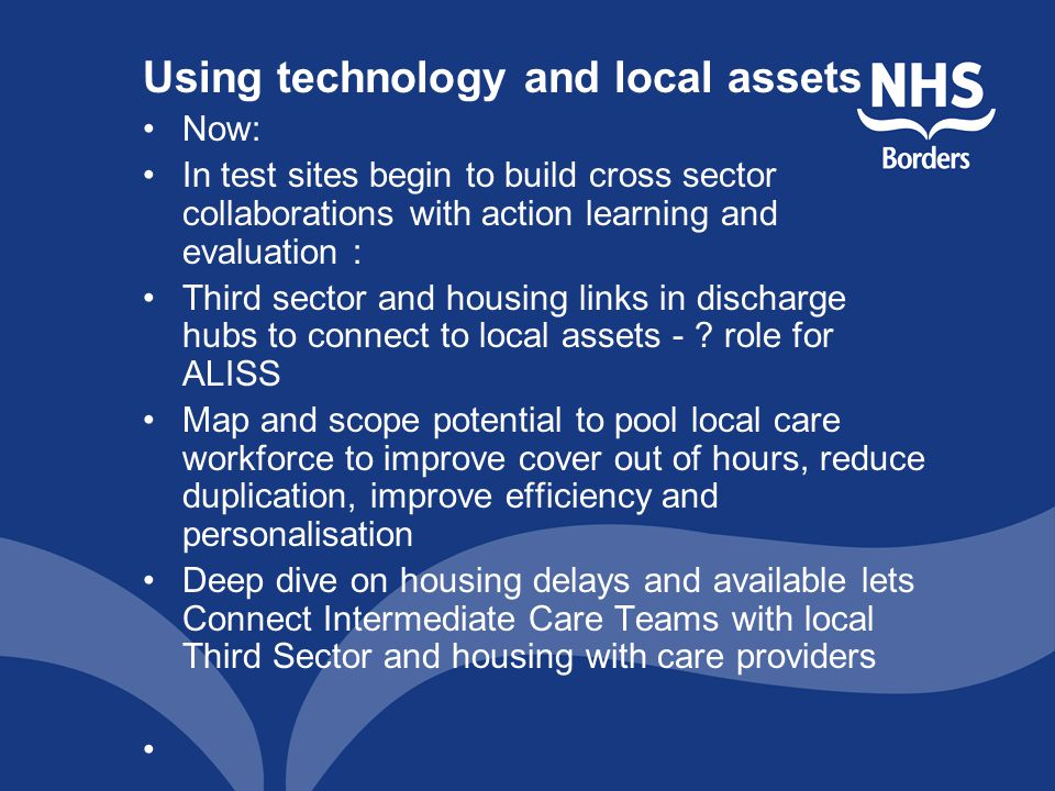 Using technology and local assets