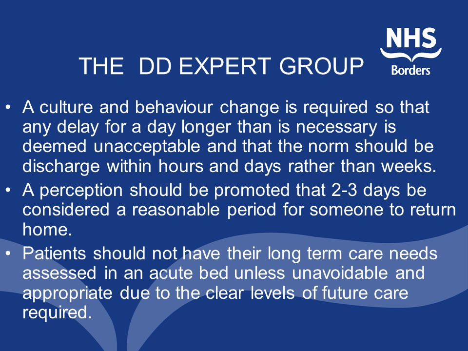 THE DD EXPERT GROUP