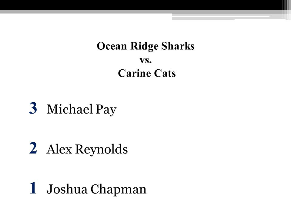 Ocean Ridge Sharks vs. Carine Cats