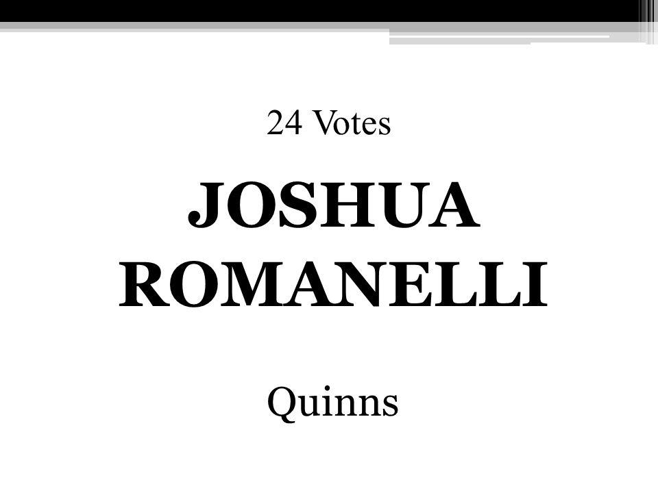 24 Votes JOSHUA ROMANELLI Quinns