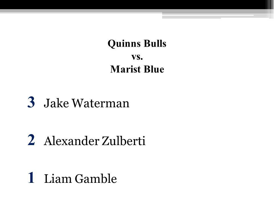 Quinns Bulls vs. Marist Blue