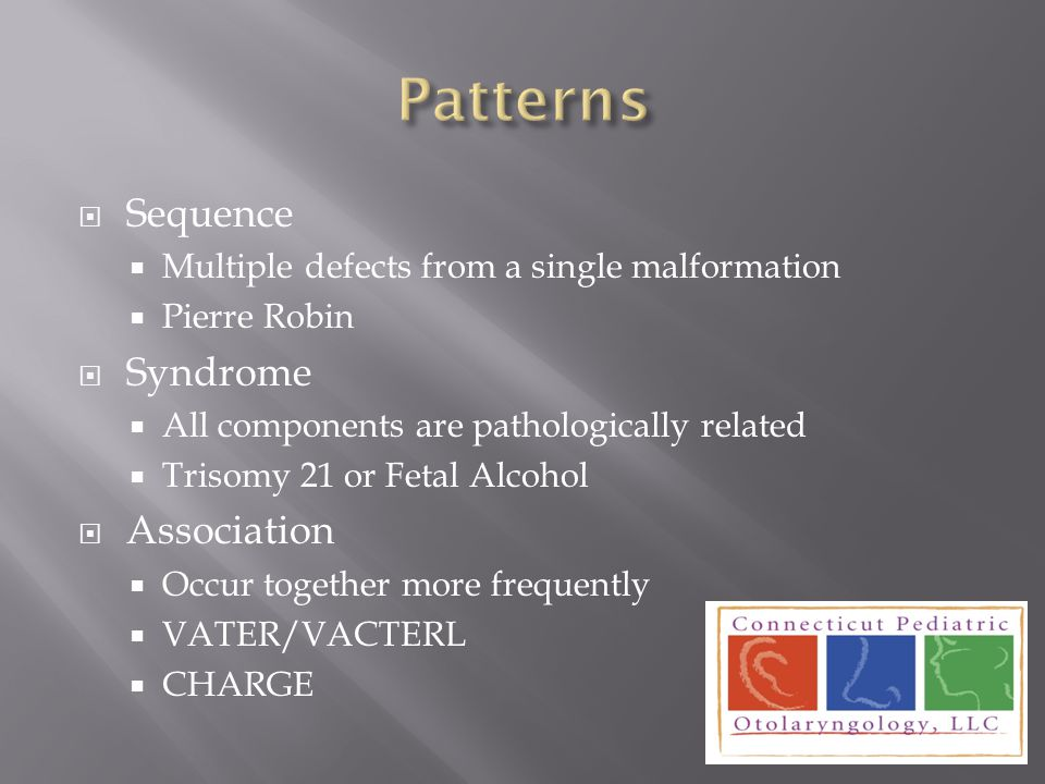 Patterns Sequence Syndrome Association