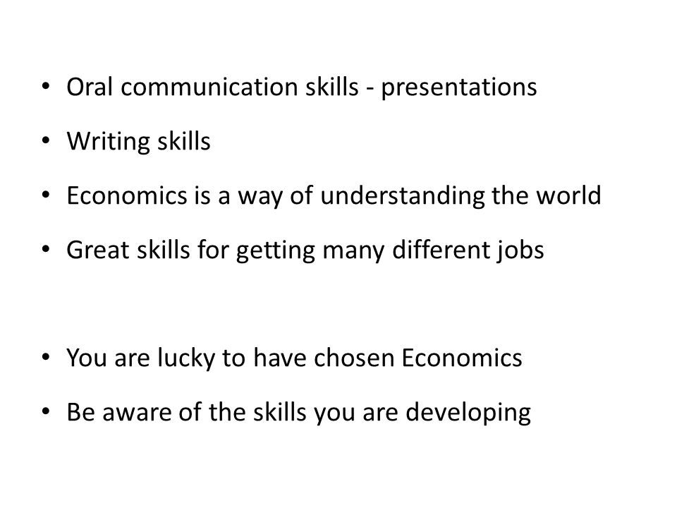 Oral communication skills - presentations