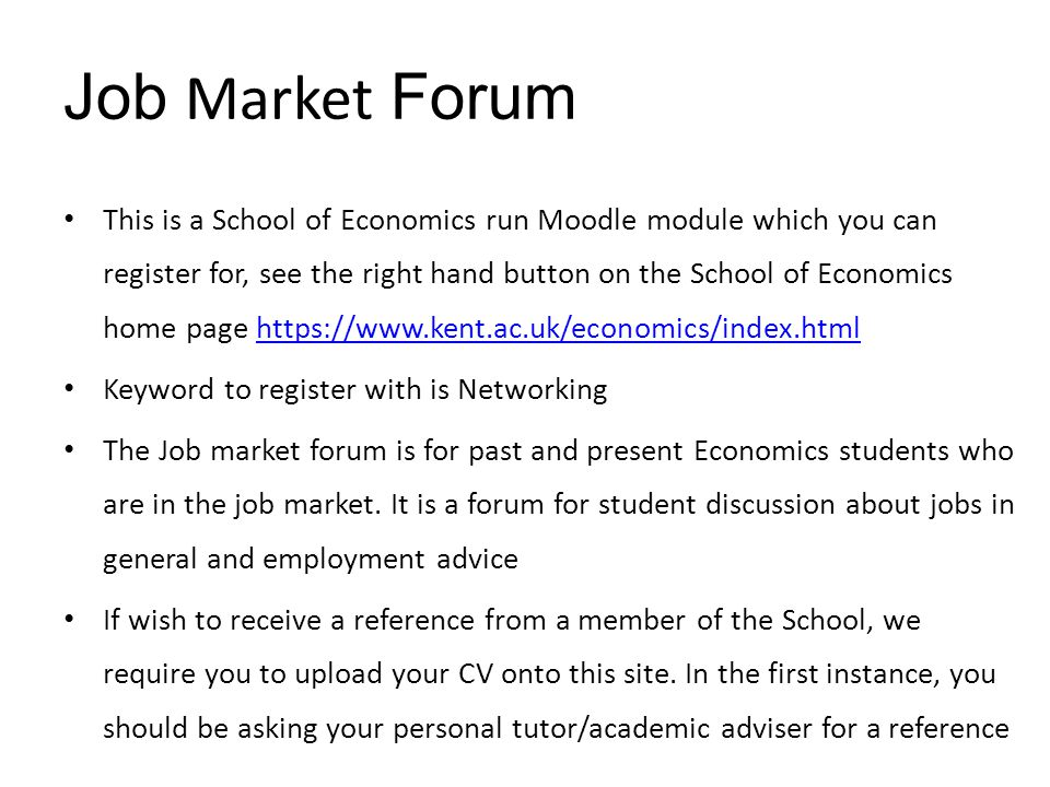 Job Market Forum