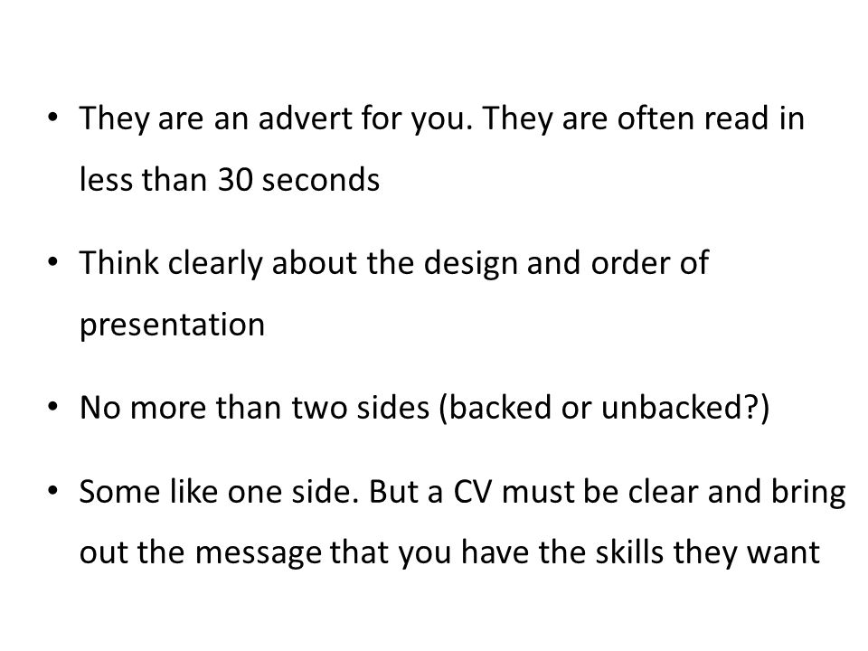 They are an advert for you. They are often read in less than 30 seconds