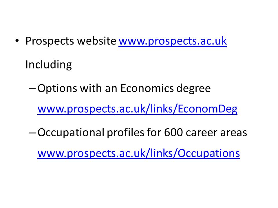 Prospects website www.prospects.ac.uk