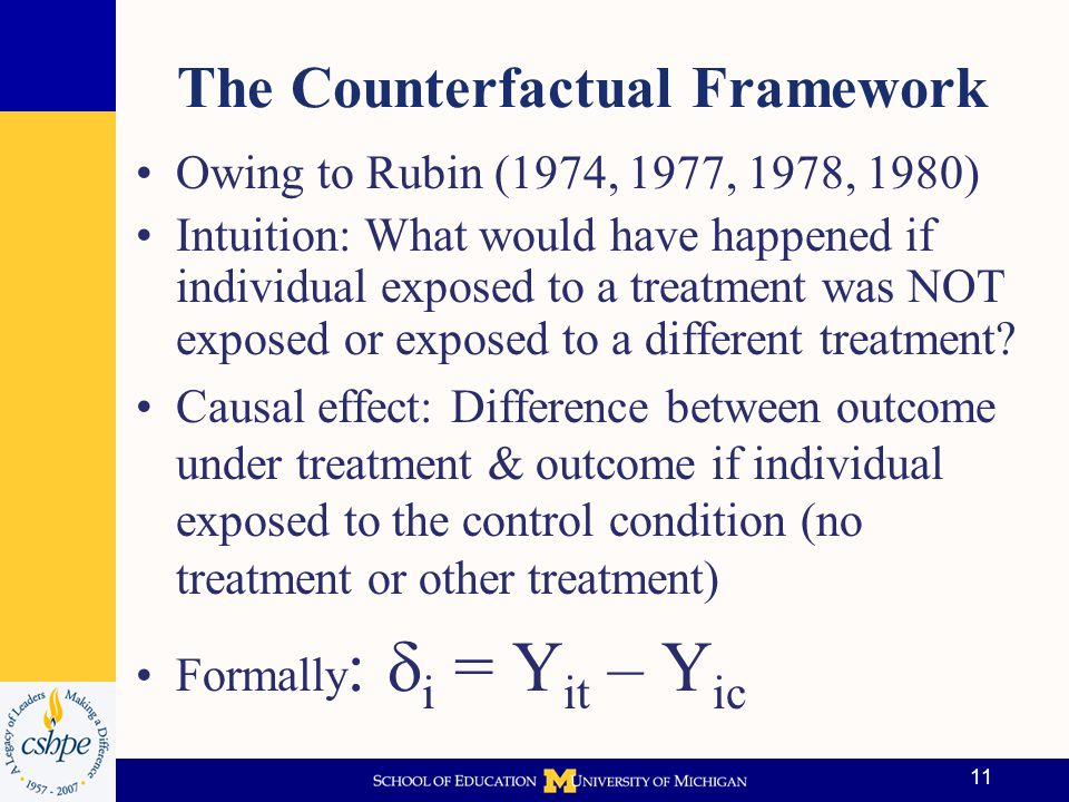 The Counterfactual Framework