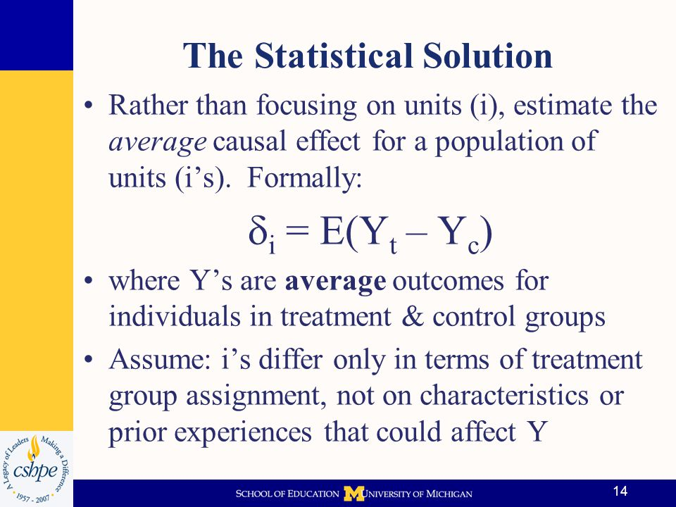 The Statistical Solution