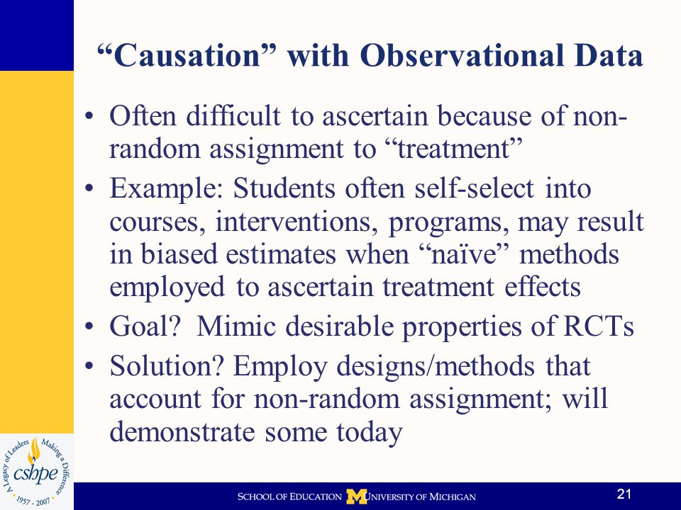 Causation with Observational Data