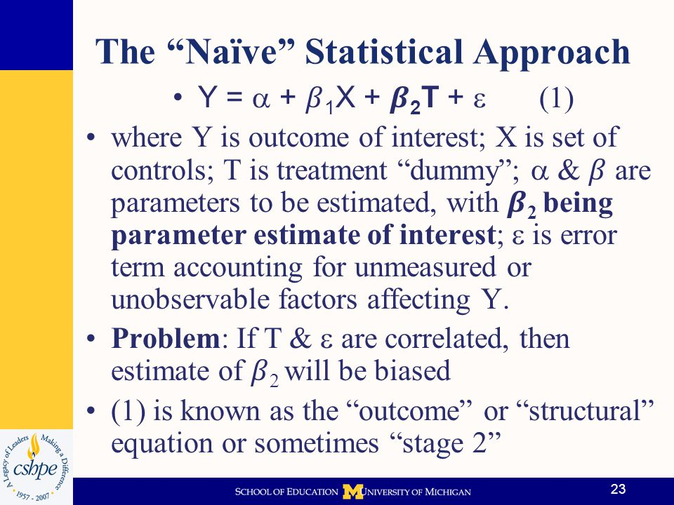 The Naïve Statistical Approach