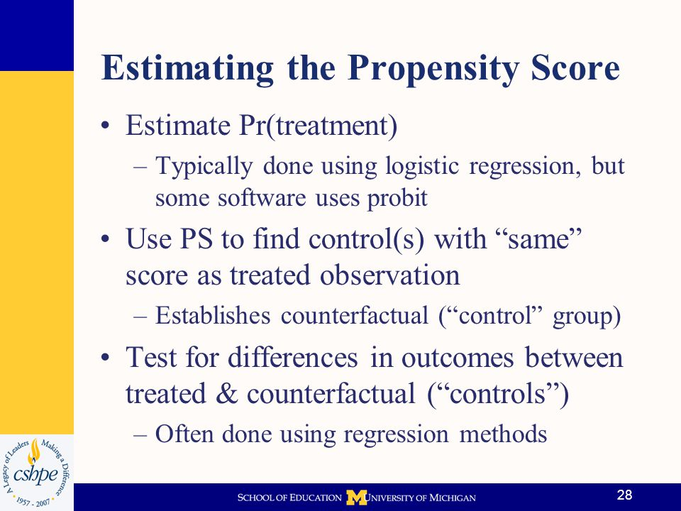 Estimating the Propensity Score
