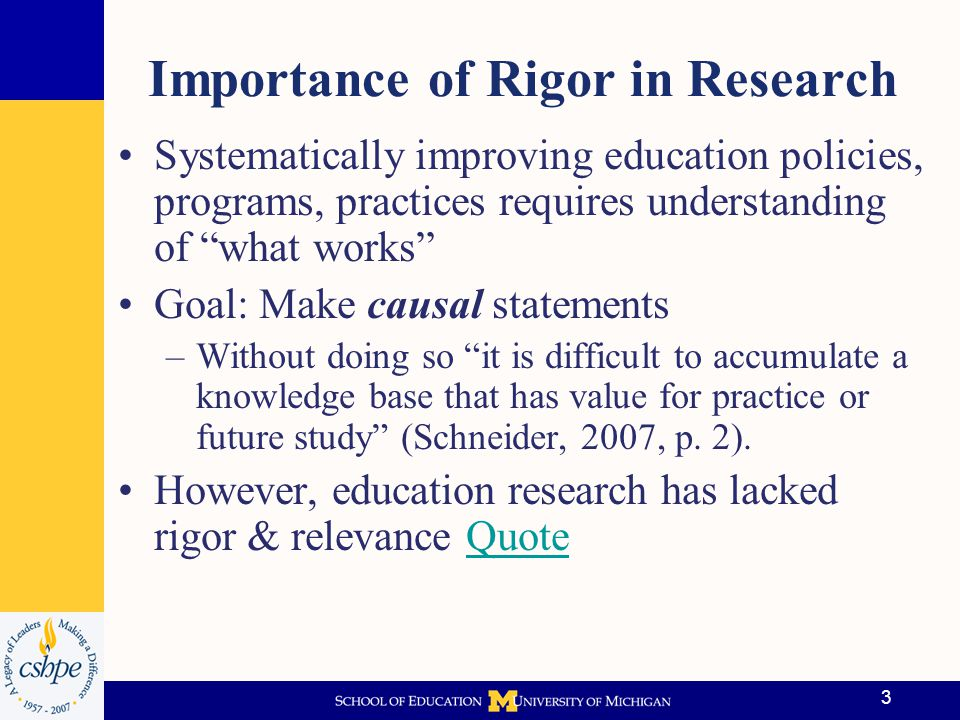 Importance of Rigor in Research
