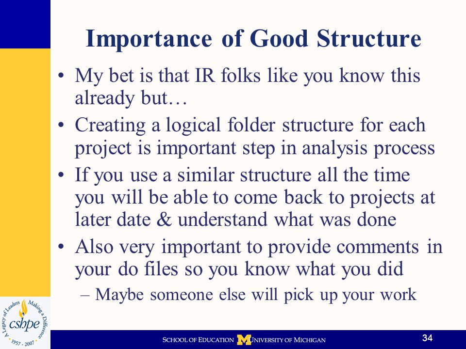Importance of Good Structure