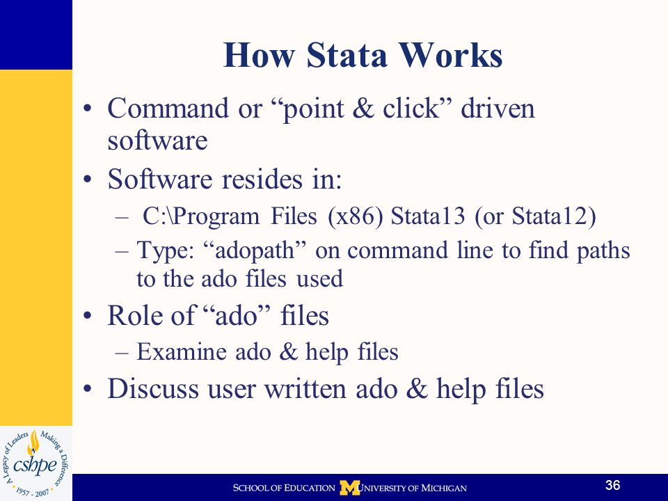 How Stata Works Command or point & click driven software