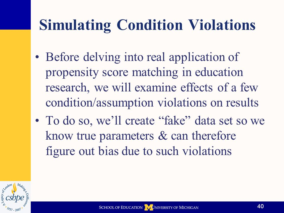 Simulating Condition Violations