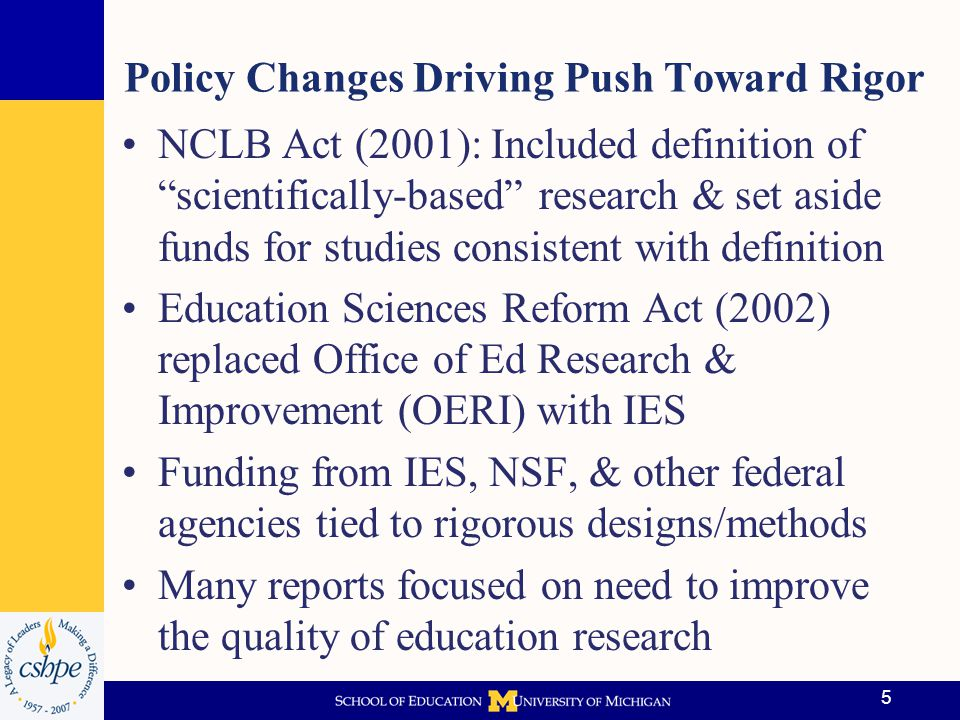 Policy Changes Driving Push Toward Rigor