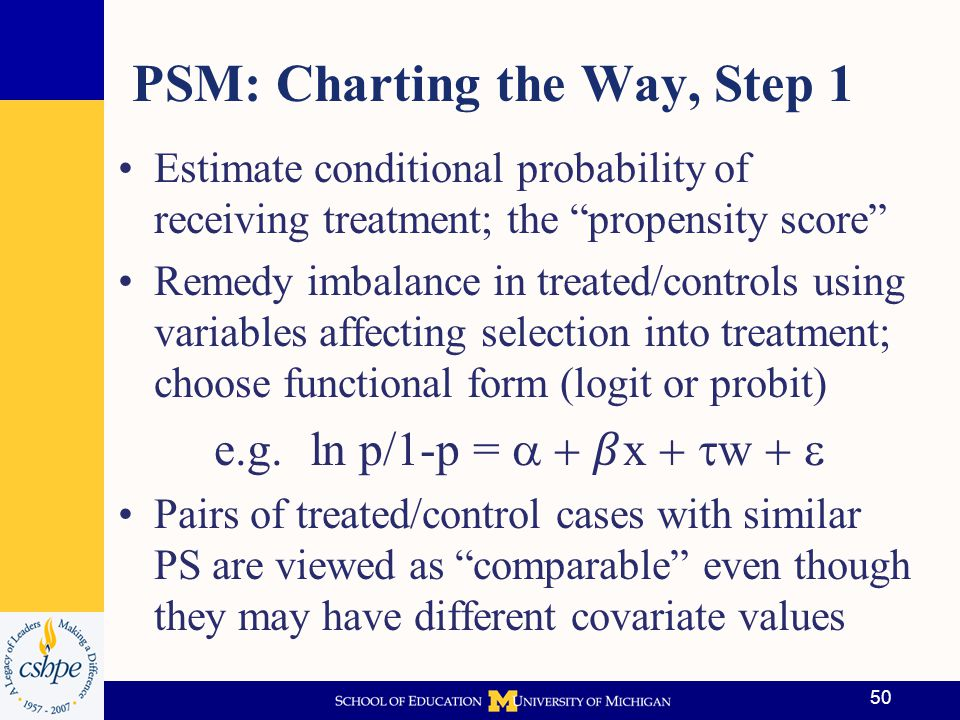 PSM: Charting the Way, Step 1