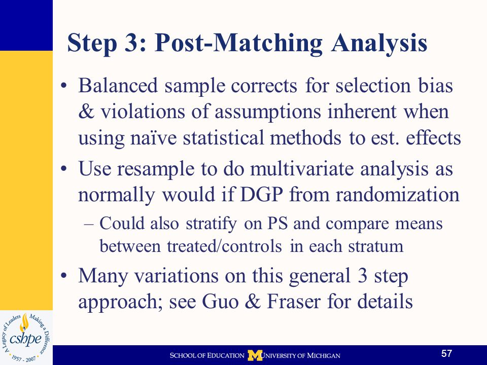 Step 3: Post-Matching Analysis