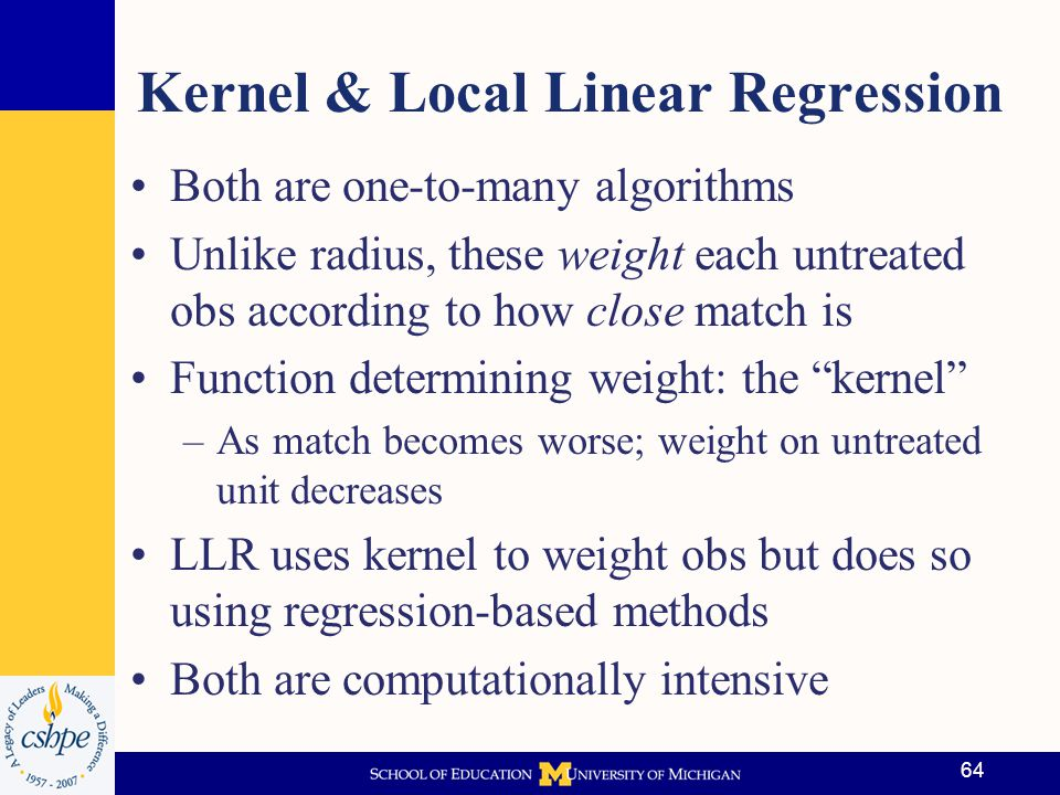 Kernel & Local Linear Regression