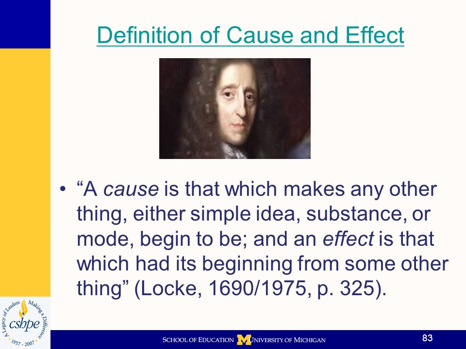 Definition of Cause and Effect
