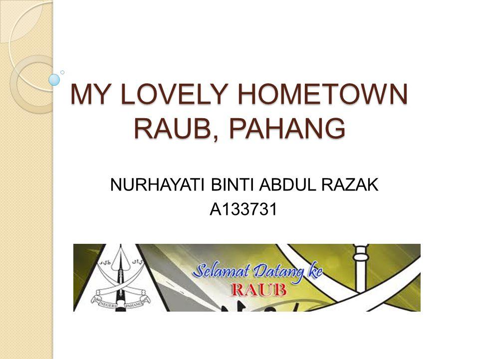 MY LOVELY HOMETOWN RAUB, PAHANG
