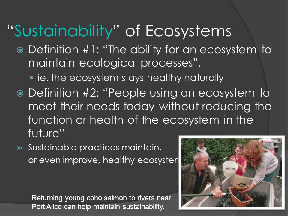 Sustainability of Ecosystems