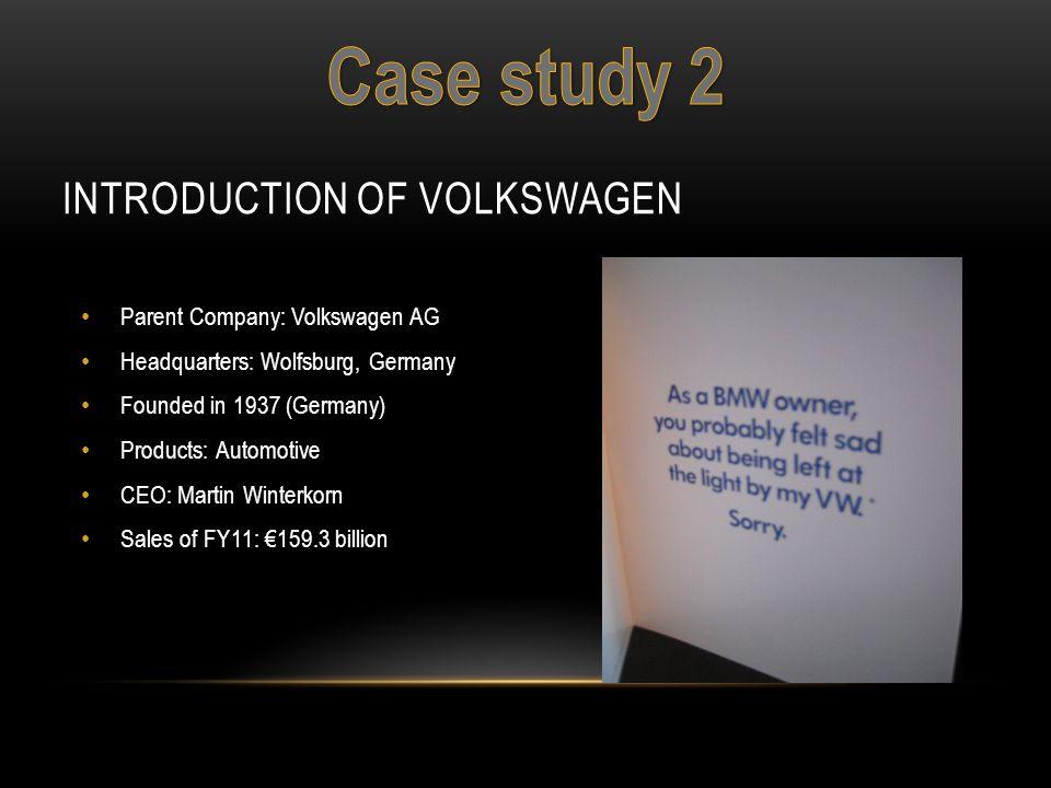 Introduction of Volkswagen