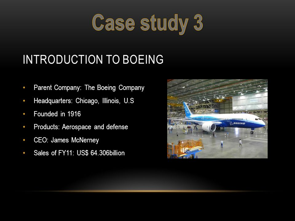 Introduction to Boeing