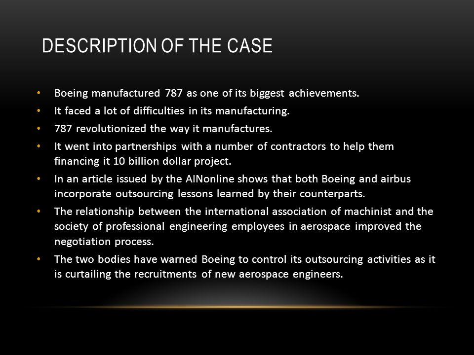 Description of the case