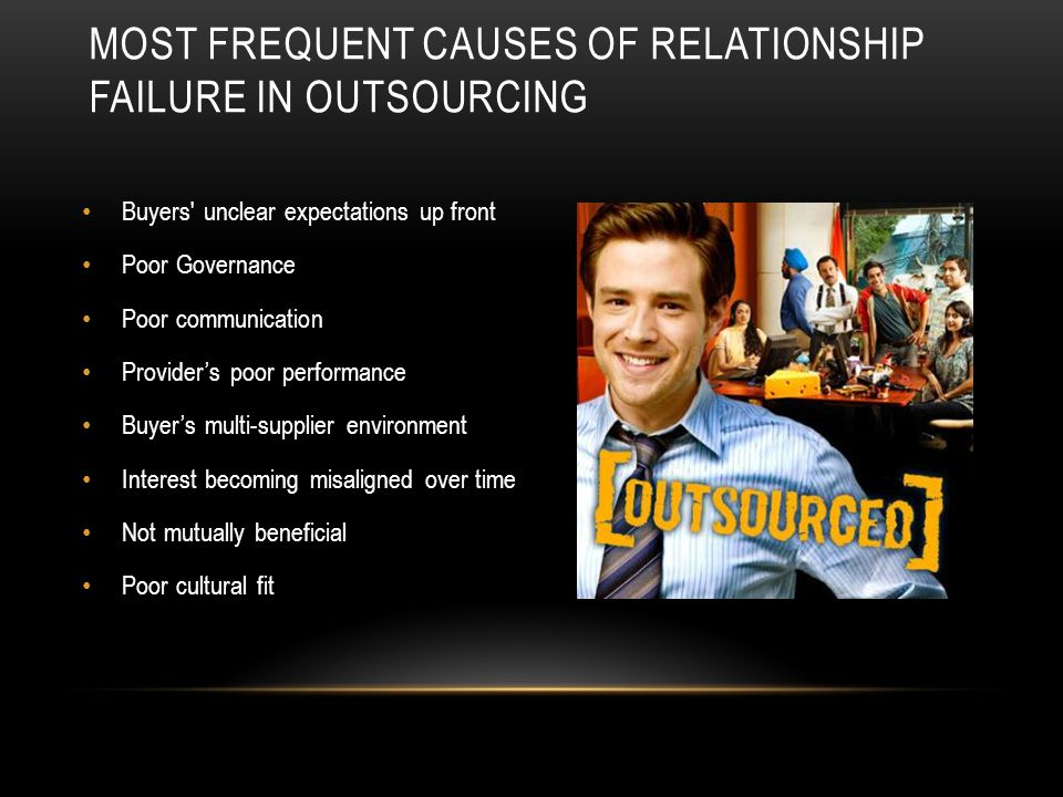 Most Frequent Causes of relationship failure in outsourcing