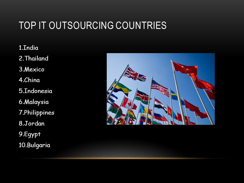Top IT outsourcing countries