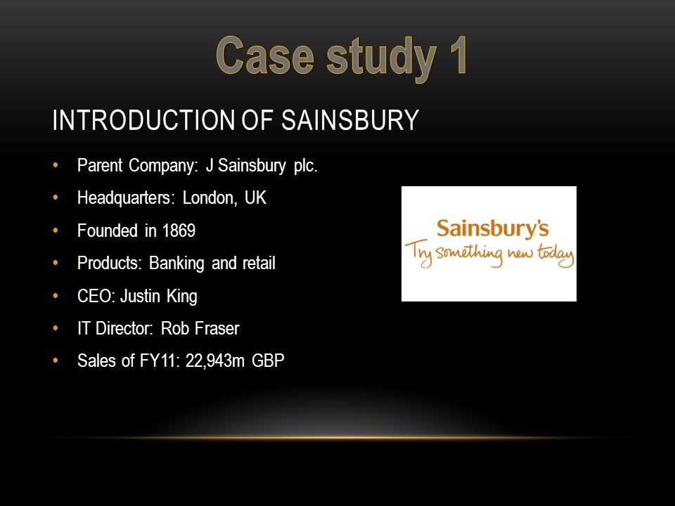 Introduction of Sainsbury