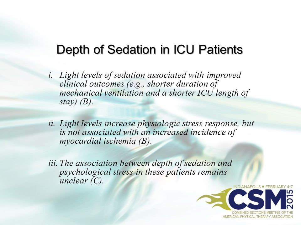 Depth of Sedation in ICU Patients
