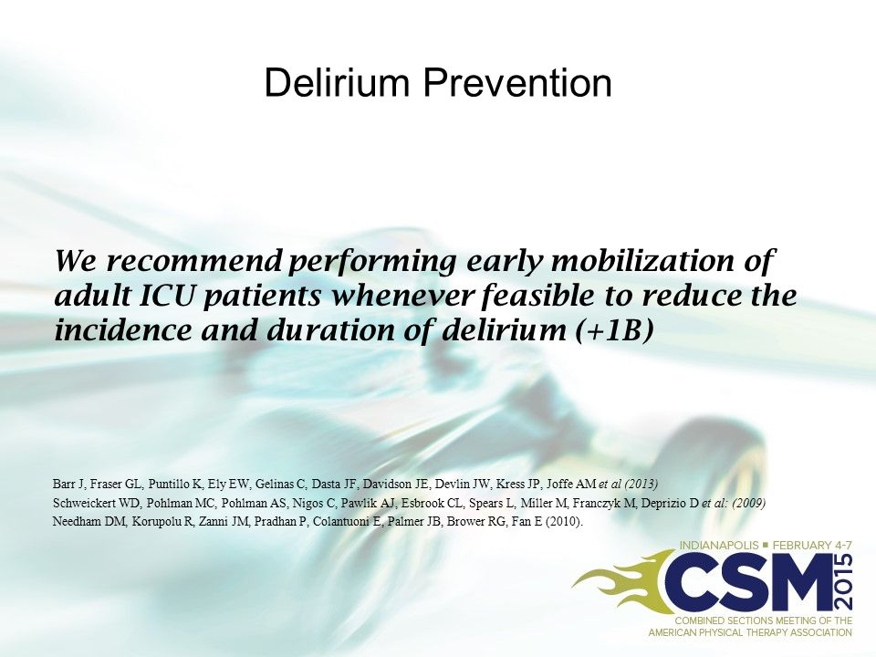 Delirium Prevention