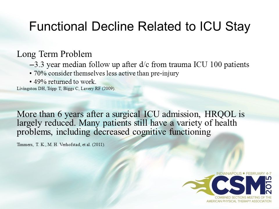 Functional Decline Related to ICU Stay