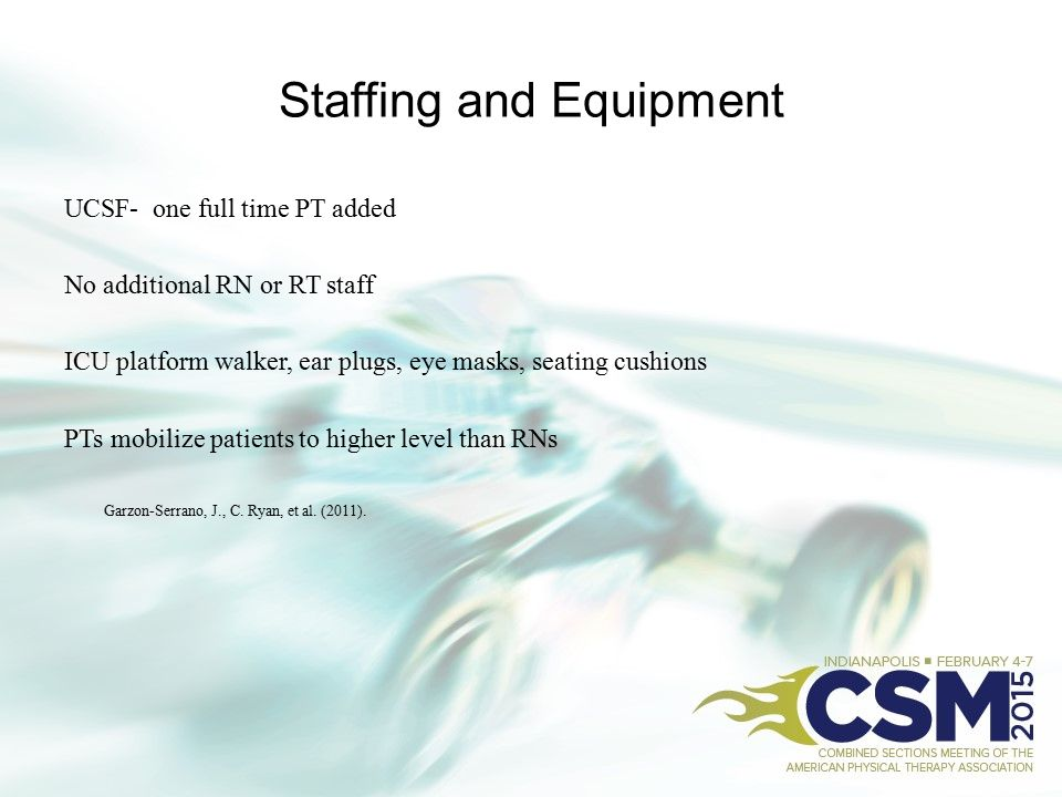 Staffing and Equipment