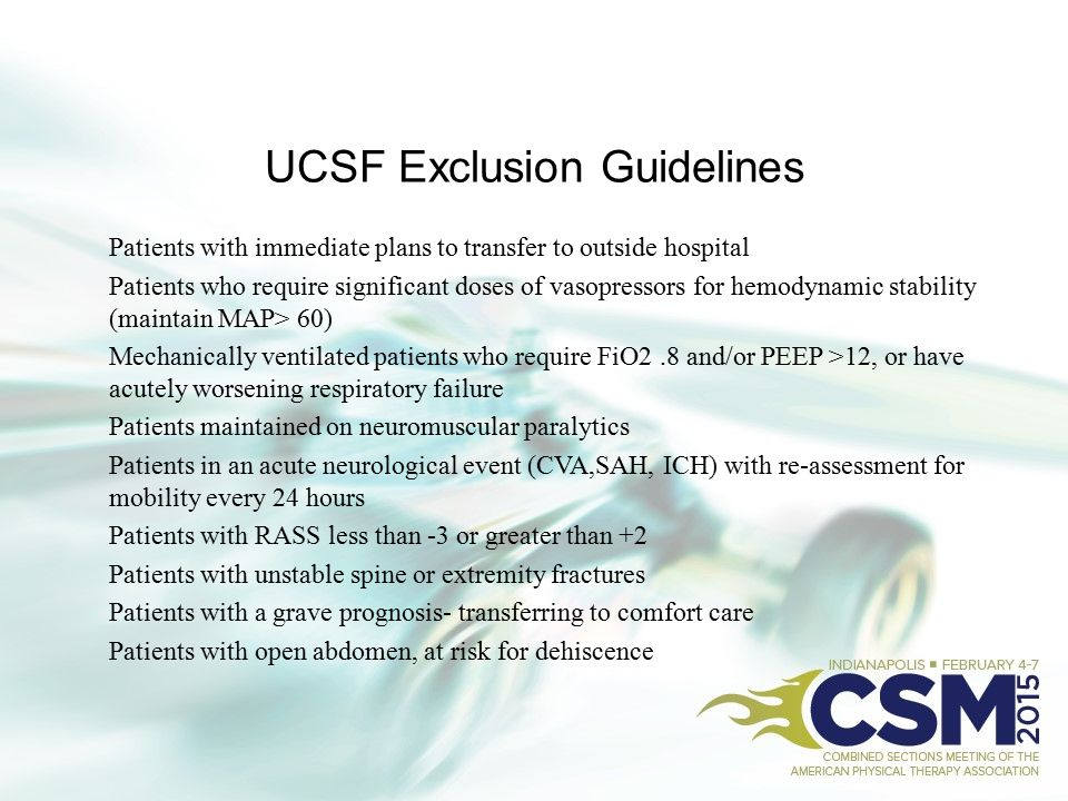 UCSF Exclusion Guidelines