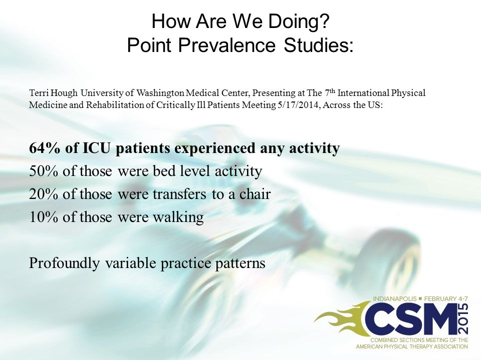 How Are We Doing Point Prevalence Studies: