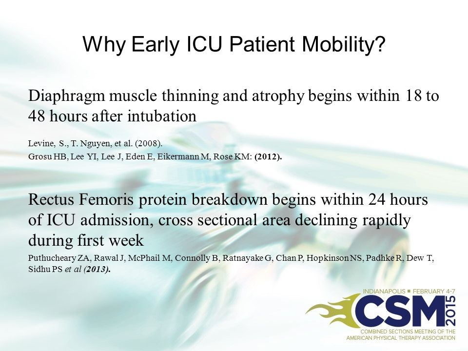 Why Early ICU Patient Mobility