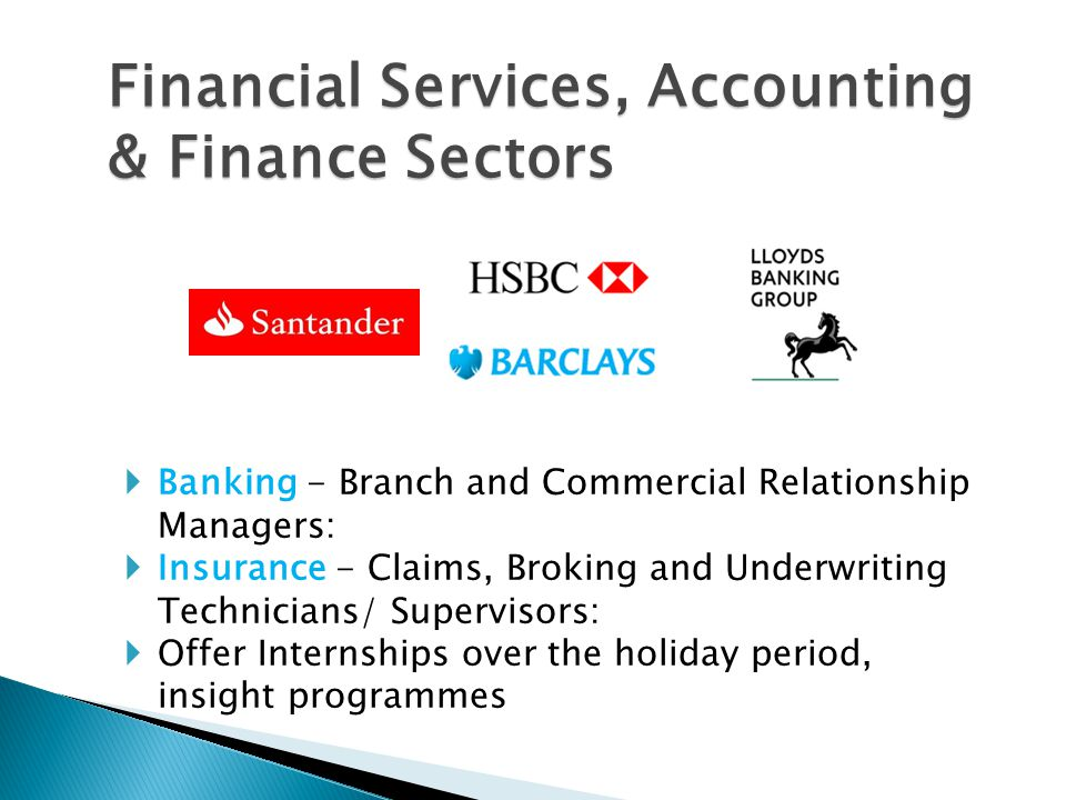 Financial Services, Accounting & Finance Sectors